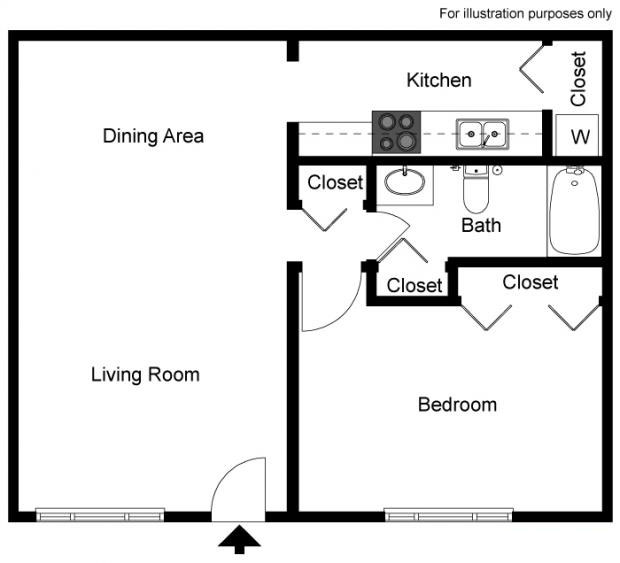 1-bed-the-gardenia-2d-floor-plan
