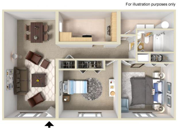 2-beds-the-hibiscus-3d-floor-plan