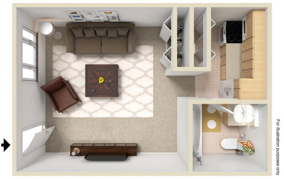 studio-the-daisy-3d-floor-plan